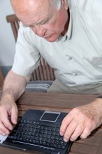 A senior with a Netbook